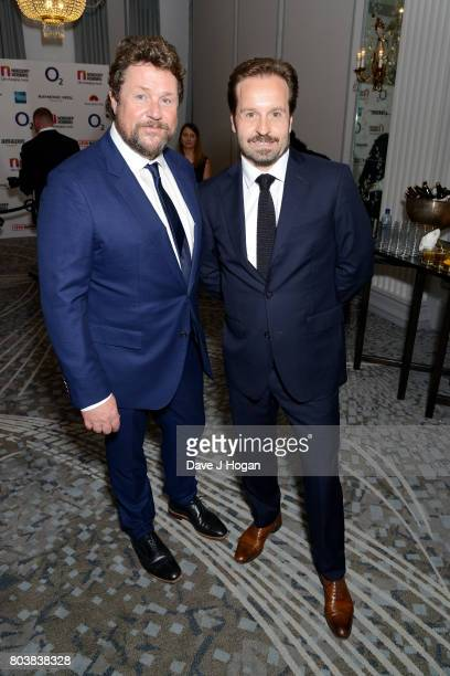 Michael Ball and Alfie Boe attend the Nordoff Robbins' O2 Silver Clef Awards at The Grosvenor House Hotel on June 30 2017 in London England