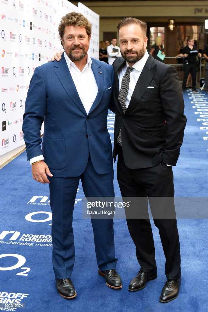Michael Ball (L) and Alfie Boe attend the Nordoff Robbins' O2 Silver Clef Awards at Grosvenor House, on July 6, 2018 in London, England.