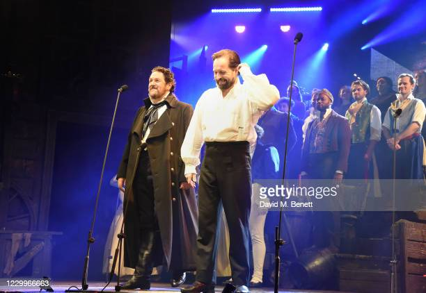 """Michael Ball and Alfie Boe bow at the curtain call during the return of """"Les Miserables: The Staged Concert"""" to London's West End following the..."""