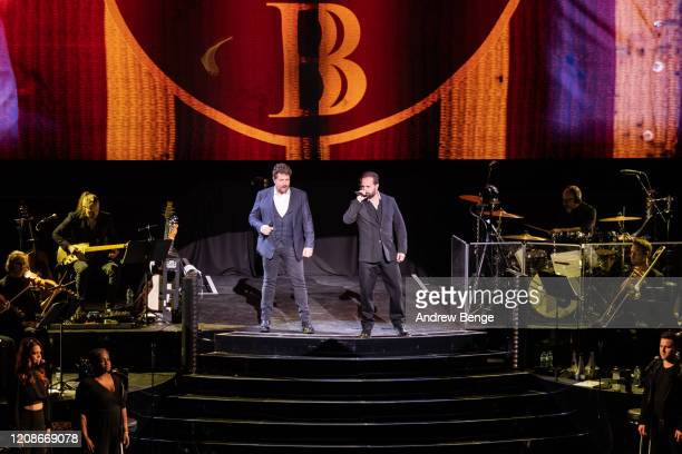 Michael Ball and Alfie Boe perform at First Direct Arena on February 25, 2020 in Leeds, England.