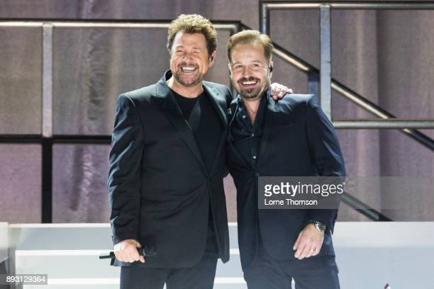 Michael Ball and Alfie Boe perform live on stage at The O2 Arena on December 14 2017 in London England