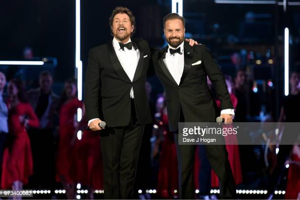 Michael Ball and Alfie Boe perform on stage during the 2018 Classic BRIT Awards held at Royal Albert Hall on June 13 2018 in London England
