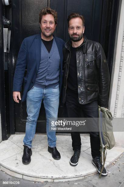 Michael Ball and Alfie Boe seen arriving at Magic Radio on October 25 2017 in London England