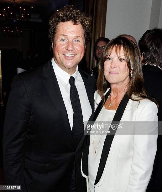 Michael Ball and Cathy McGowan attend an after party following Press Night of 'GHOST The Musical' at Corinthia Hotel London on July 19 2011 in London...