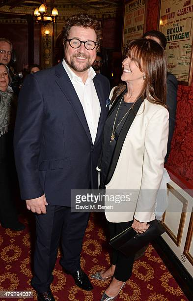 Michael Ball and Cathy McGowan attend the Once The Musical Oxfam Gala performance at Phoenix Theatre on March 17 2014 in London England