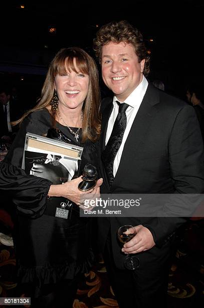 Michael Ball and wife Cathy McGowan attend The Laurence Olivier Awards at the Grosvenor House Hotel on March 9 2008 in London England