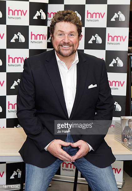Michael Ball British actor singer and radio/TV presenter hosts meet and greet with fans as he signs copies of his new DVD Both Sides Now at HMV...