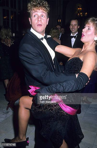 Michael Ball dancing with his Brothers wife during Michael Ball at the Opening Night Party of the Musical 'Aspects of Love' at Waldorf Hotel in...