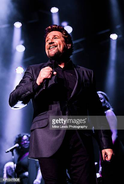 Michael Ball performs at St David's Hall on April 29 2015 in Cardiff United Kingdom
