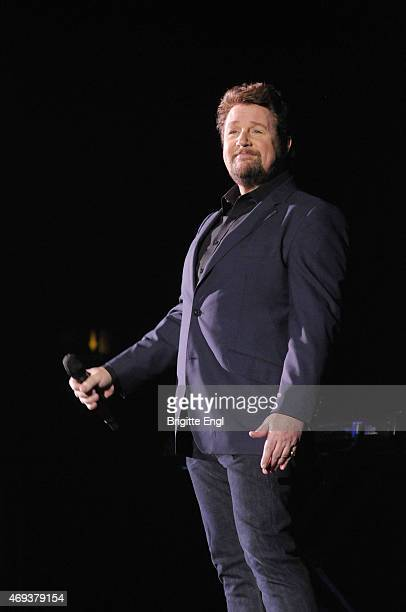 Michael Ball performs on stage at Eventim Apollo on April 11 2015 in London United Kingdom