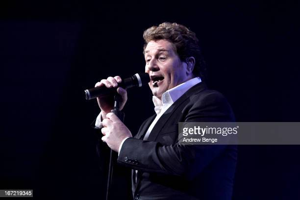 Michael Ball performs on stage in concert at Bridgewater Hall on April 22 2013 in Manchester England