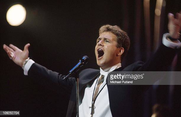 Michael Ball performs on stage London 1996