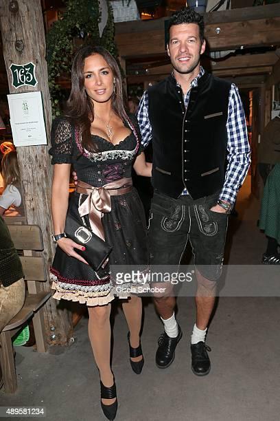 Michael Ballack and his girlfriend Natacha Tannous during the 'Thomas Sabo' Oktoberfest 2015 at Kaeferschaenke at Theresienwiese on September 22 2015...