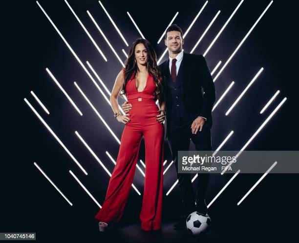 Michael Ballack and Natacha Tannous are pictured inside the photo booth prior to The Best FIFA Football Awards at Royal Festival Hall on September...