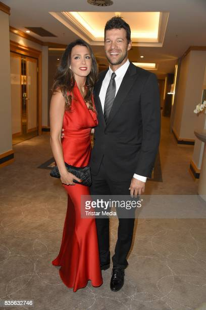 Michael Ballack and Natacha Tannous attend the GRK Golf Charity Masters evening gala on August 19, 2017 in Leipzig, Germany.