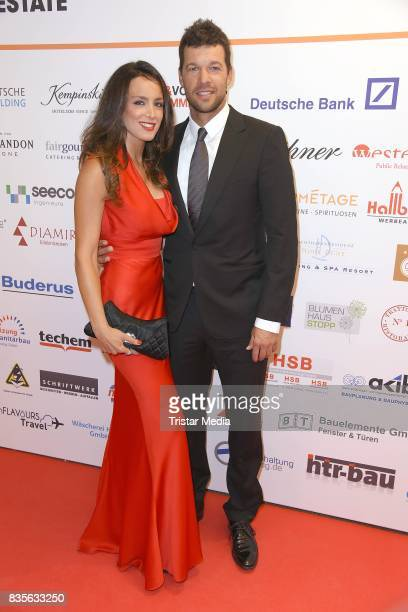 Michael Ballack and Natacha Tannous attend the GRK Golf Charity Masters evening gala on August 19 2017 in Leipzig Germany