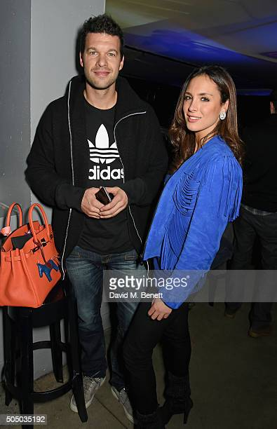 Michael Ballack and Natacha Tannous attend the Orlando Magic v Toronto Raptors NBA Global official after party at Building Six in The O2 Arena on...
