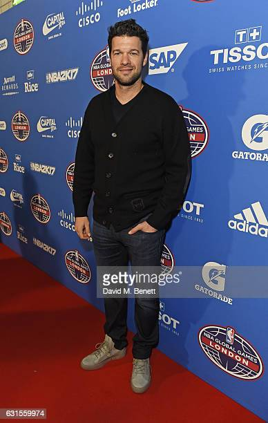 Michael Ballack attends the Denver Nuggets v Indiana Pacers game during NBA Global Games London 2017 at The O2 Arena on January 12 2017 in London...
