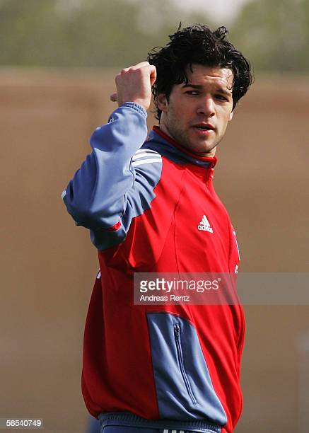 Michael Ballack looks on during the Bayern Munich training camp on January 8 2006 in Dubai United Arab Emirates
