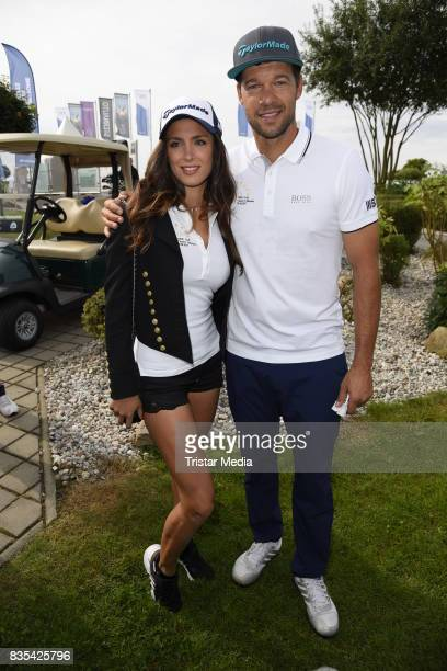 Michael Ballack Natacha Tannous attends the 10th GRK Golf Charity Masters on August 19 2017 in Leipzig Germany