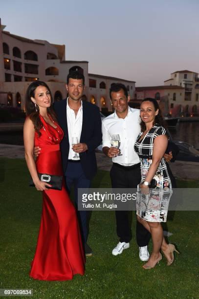 Michael Ballack, Natacha Tannous, Hasan Salihamidzic and Esther Copado attend The Costa Smeralda Invitational Gala Dinner at Cala di Volpe Hotel -...