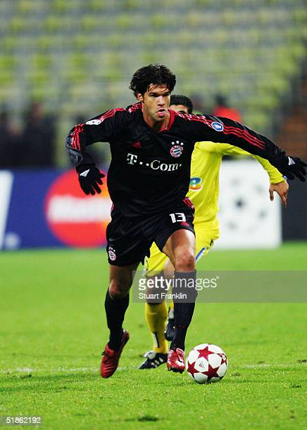 Michael Ballack of Bayern Munich in action during the UEFA Champions League Group C match between FC Bayern Munich and Maccabi Tel Aviv at The...