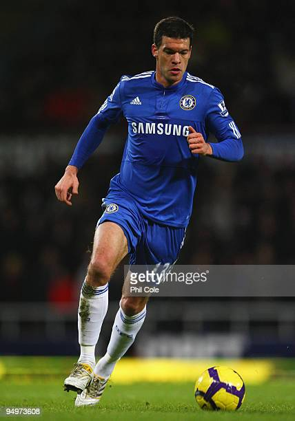 Michael Ballack of Chelsea in action during the Barclays Premier League match between West Ham United and Chelsea at Upton Park on December 20 2009...