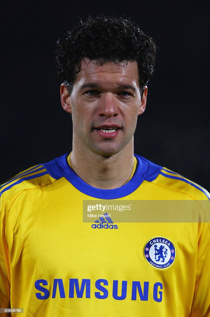 reputable site 0fcf8 456ce Michael Ballack of Chelsea lines up prior to the Group A ...