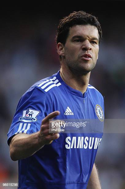 Michael Ballack of Chelsea looks dejected during the Barclays Premier League match between Tottenham Hotspur and Chelsea at White Hart Lane on April...