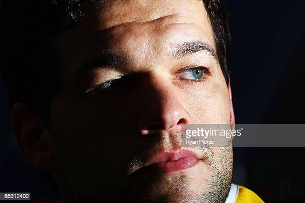 Michael Ballack of Chelsea speaks to the media during a press conference at Stadio Olimpico di Torino on March 9 2009 in Turin Italy Juventus and...