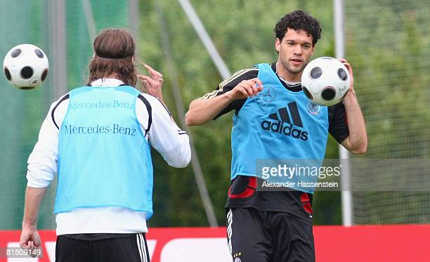 Michael Ballack of Germany in action during the training session of the German national team at the Centro Sportivo Tenero on June 10 2008 in Tenero...