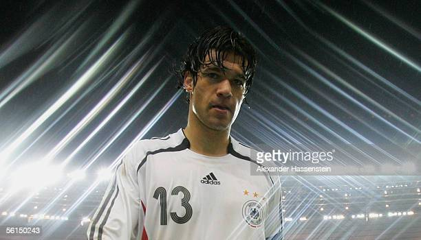 Michael Ballack of Germany leaves the field after the international friendly match between France and Germany at the Stade de France on November 12...