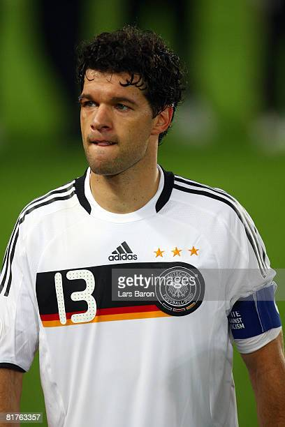 Michael Ballack of Germany looks on after the UEFA EURO 2008 Final match between Germany and Spain at Ernst Happel Stadion on June 29, 2008 in...
