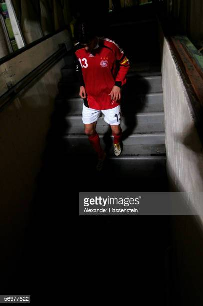 Michael Ballack of Germany seen after the international friendly match between Italy and Germany at the Artemio Franchi Stadium on March 1, 2006 in...