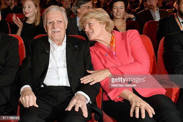 Michael Ballhaus and Monika Gruetters attend the 'Hommage For Michael Ballhaus' during the 66th Berlinale International Film Festival Berlin at...
