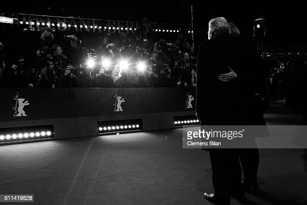 Michael Ballhaus and Sherry Hormann attend the closing ceremony of the 66th Berlinale International Film Festival on February 20 2016 in Berlin...