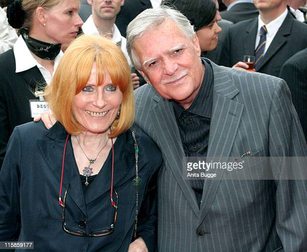 Michael Ballhaus and wife Helga Ballhaus during Dreigroschenoper Berlin Premiere at Admiralspalast in Berlin Germany