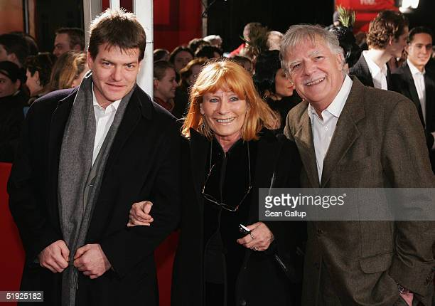 Michael Ballhaus arrives with his wife Helga and son Sebastian at the German premiere of The Aviator at the Delphi cinema January 7 2005 in Berlin...