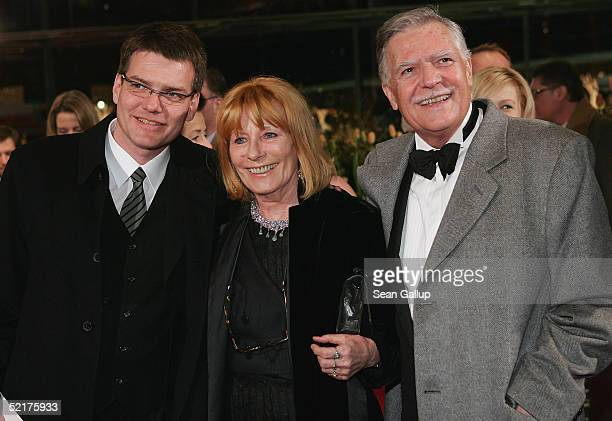 Michael Ballhaus arrives with his wife Helga and son Sebastian at the Man To Man Premiere the Opening Night of the 55th annual Berlinale...