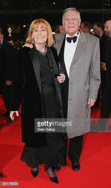 Michael Ballhaus arrives with his wife Helga at the Man To Man Premiere the Opening Night of the 55th annual Berlinale International Film Festival on...