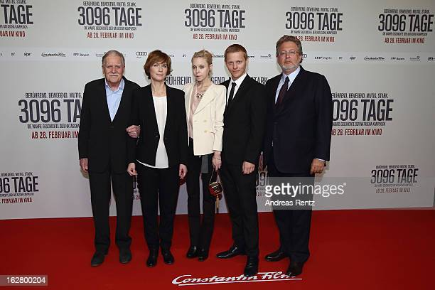 Michael Ballhaus director Sherry Hormann actress Antonia CampbellHughes actor Thure Lindhardt and producer Martin Moszkowicz attend the '3096 Tage'...