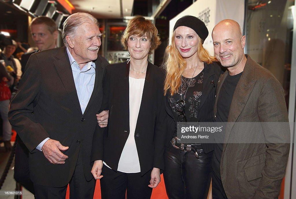 Michael Ballhaus, Sherry Hormann, Andrea Sawatzki and Christian Berkel attend the '3096 Tage' Berlin Premiere at CineStar on February 27, 2013 in Berlin, Germany.
