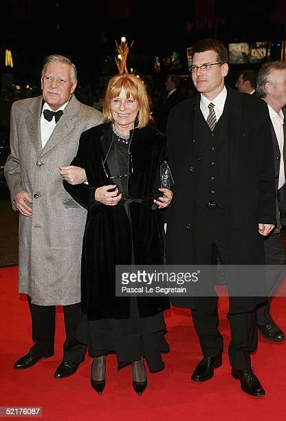 Michael Ballhaus with his wife Helga and son Sebastian arrive at the Man To Man Premiere the Opening Night of the 55th annual Berlinale International...