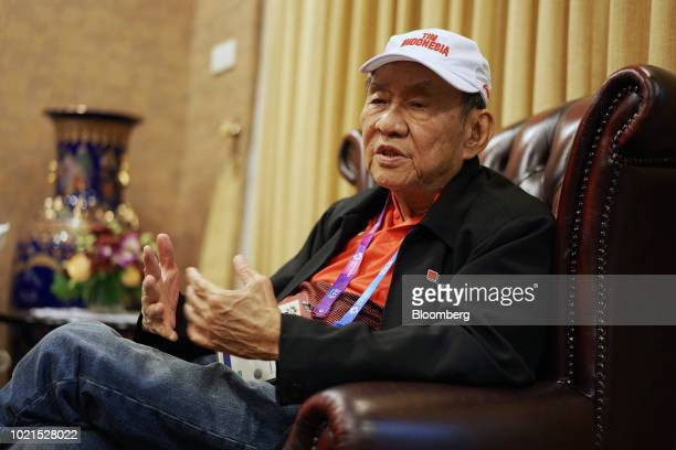 Michael Bambang Hartono coowner of Djarum Group speaks during an interview in Jakarta Indonesia on Aug 21 2018 Hartono the 78yearold tycoon and...