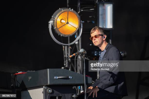 Michael Bannister of Texas performs on stage during TRNSMT Festival Day 4 at Glasgow Green on July 6 2018 in Glasgow Scotland