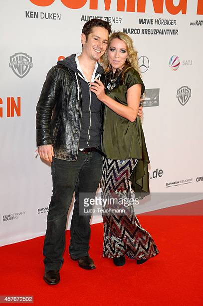 Michael Baral and Sanny van Heteren attends the 'Coming In' Premiere at Cinemaxx on October 22 2014 in Berlin Germany