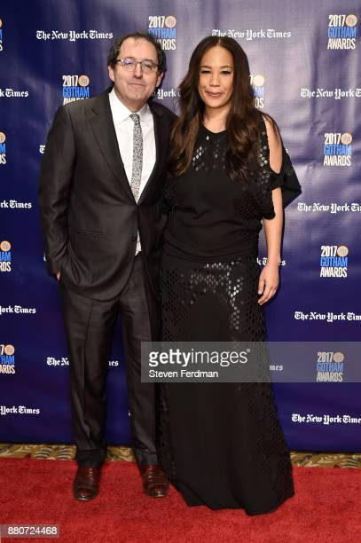 Michael Barker and Maggie Betts attend IFP's 27th Annual Gotham Independent Film Awards at Cipriani Wall Street on November 27 2017 in New York City