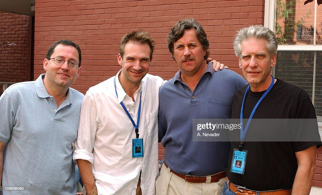 Michael Barker, Co-President of Sony Pictures Classics, Ralph Fiennes, Tom Bernard, Co-President of Sony Pictures Classics, and David Cronenberg