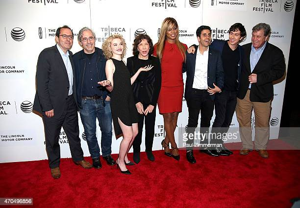 Michael Barker Paul Weitz Julia Garner Lily Tomlin Laverne Cox Mo AboulZelof Nat Wolff and Tom Bernard attend the New York Premiere Narrative...
