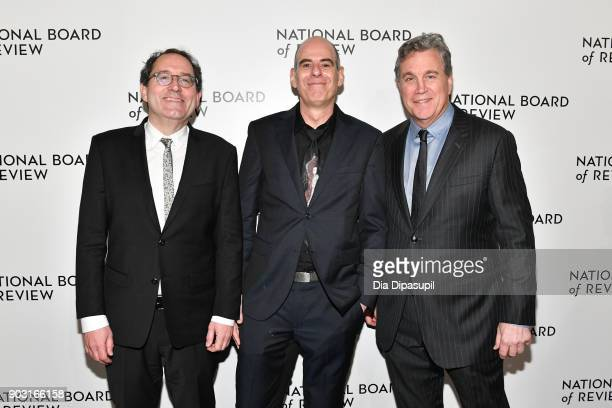 Michael Barker Samuel Maoz and Tom Bernard attend the 2018 National Board of Review Awards Gala at Cipriani 42nd Street on January 9 2018 in New York...